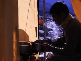 The cook at High Camp
